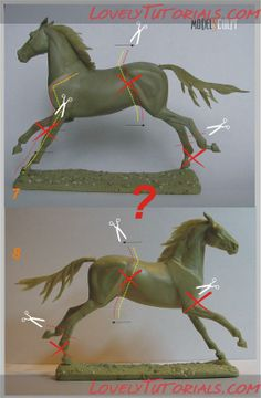 running horse sculpting photo tutorial, scroll to bottom of page