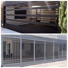 Front Gate Design, Door Gate Design, House Gate Design, Home Room Design, Window Grill Design Modern, Modern Fence Design, Grill Door Design, Garage Door Security, Door Grill
