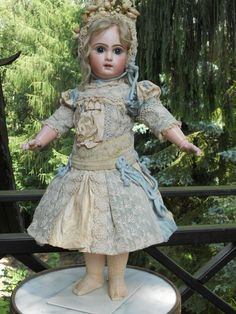 ~~~ Most beautiful French Two-Colored Silk BeBe Dress with Matching from whendreamscometrue on Ruby Lane