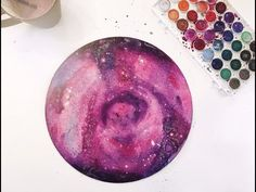 PAINTING WITH GIO - WATERCOLOR GALAXY - YouTube