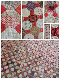 Old Quilts, Antique Quilts, Hexagon Quilt, Hexagons, Quilting Designs, Quilt Design, English Paper Piecing, Quilt Top, Quilt Patterns