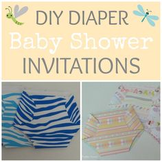 Create your own custom baby shower invitations in a cute diaper shape to fit whatever theme you choose