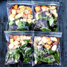 Ever get really excited to make a healthy change buy a ton of produce and then turn around to find you can't use it before it goes bad? This is a great way to extend the shelf life of your fruits and veggies! I prep these smoothie bags to make sure I have a healthy option that is easy to make and get my produce in the freezer before it turns. These will keep in the freezer for 2-3 weeks. by fearlessfig