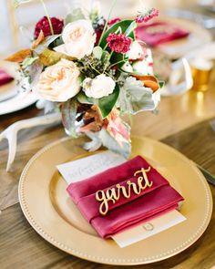 Laser cut place cards  Pic by Mustard Seed Photography