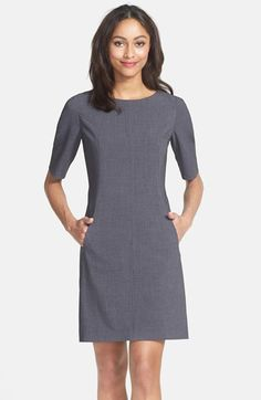Tahari Seamed A-Line Dress (Regular & Petite) | Nordstrom $128. Also comes in black, red, blue, and purple
