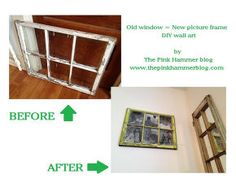 old window repurposed into photo frame upcyle diy, home decor, repurposing upcycling
