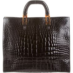 7a95d2e73ad3 Lana Marks Alligator Tote (198870 RSD) ❤ liked on Polyvore featuring bags