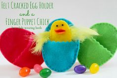 Felt Egg Holder AND Finger Puppet Tutorial adorable Easter gift without the sugar