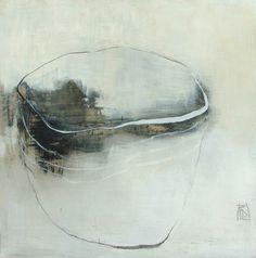 """Francoise Danel """"Transparence"""" huile sur toile 100x100cm... Galerie GNG"""