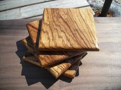 Handmade Exotic Wood Coaster Set FREE by TheGrainExpression, $45.00