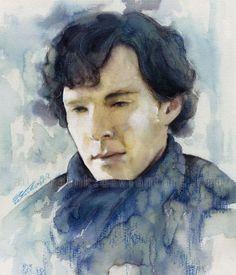 Sherlock I think I'm going to die – Crying colors by auroraink Watercolor Portraits, Watercolor Paintings, Watercolour, Watercolor Ideas, Sherlock Mary, Manga Anime, Sherlock Holmes Benedict Cumberbatch, Mrs Hudson, Martin Freeman