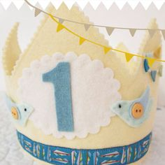 Little Birds in Flight - Felt Birthday Crown on Etsy, $32.00