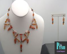 Fun Fire Agate Necklace Set by PrismBouquets on Etsy, $45.00