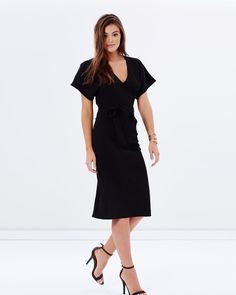 Katherine Kimono Sleeve Dress