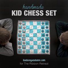 handmade kid chess set   if you love making handmade gifts