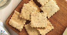 Crisp almond flour crackers.