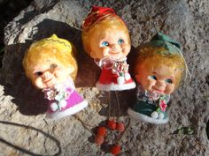 Rare Vintage Made in Japan Set of Three Doll Head by AskMeDecor, $38.00
