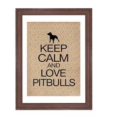 Pitbull Dog Art Print Keep Calm and Love Your Pitbull, Vintage Inspired on Etsy, $10.00