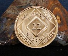 Narcotics Anonymous Vintage 22 Year Bronze Medallion 2005 Series Coin Chip Token | eBay