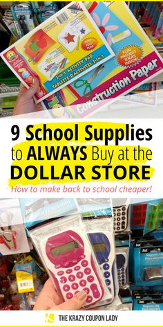 Wondering how to get back to school supplies cheaper or save money on your kids' back to school supplies list? The Krazy Coupon Lady is here with all the money saving back to school hacks Back To School Supplies List, Back To School Hacks, Cute School Supplies, Back To School Shopping, School Stuff, Coupon Lady, Home Learning, Saving Money, Saving Tips