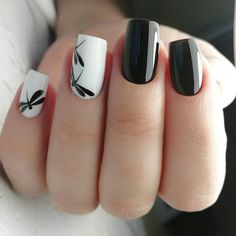Elegant Black And White Nail Art Designs You Need To Try; Elegant Black And White Nail Art Designs; Elegant Black And White Nail; Black And White Nail; Black And White Nail Art Designs; Nagel Stamping, Nagellack Trends, Nail Polish, Nail Nail, White Nail Art, Black White Nails, Black And White Nail Designs, White Art, Nail Swag