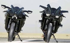 Kawasaki Ninja H2 and H2R track bike