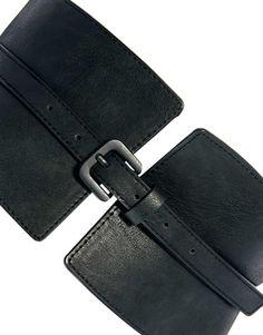Image 2 ofASOS CURVE Wide Waist Cincher Buckle Belt