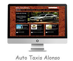 Página web diseñada para Auto Taxis Alonso, en Ortuella, Bizkaia.