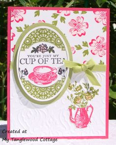Tea Party , Stippled Blossoms © Stampin' Up! at My Tanglewood Cottage