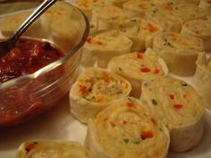 Mexican Sprials:  baked tortilla roll ups with chicken/cream cheese mixture.  Mennonite Girls Can Cook