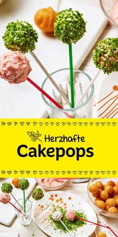 Diese herzhaften Cakepops sehen nicht nur super aus, sondern schmecken auch richtig lecker! Sie bieten sich optimal für Buffets oder Kindergeburtstage an. Stell sie einfach dazu und sie werden schneller weg sein als du gucken kannst!