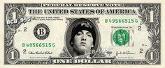 EMINEM on REAL Dollar Bill  Spendable Cash by VincentTheArtist