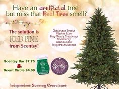 There's nothing better than the pine smell of a fresh cut Christmas tree! The Scentsy Iced Pine Scent matches it perfectly. https://www.facebook.com/pages/Lets-Talk-Scents/725101880907251