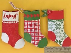 (1036) Trim Your Stockings Pillow Boxes - Video Tutorial with New Stampin' Up Products - YouTube