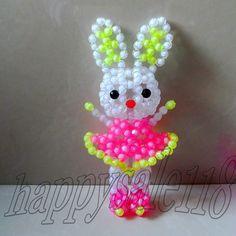3D beadwork Animal Zodiac Rabbit Home Decor Ornament Handicraft Handmade