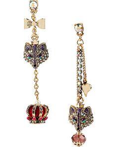 MISMATCH PURPLE FOX EARRING PURPLE accessories jewelry earrings fashion