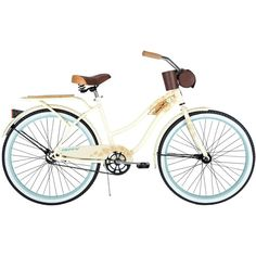 "Huffy Panama Jack 26"" Women's Beach Cruiser Bike... I am LOVING it! Put the front bag on the back, got a wicker one for my little Toy Poodle, Bijoux, to ride in (with a safety harness!!) <3"