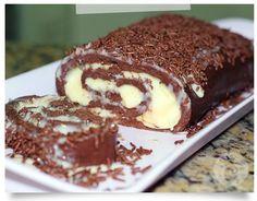 Rocambole ligeiro de chocolate