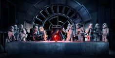 Photographer Steve Brown made a Star Wars-themed parody of Leonard da Vinci's The Last Supper with the help of cosplayers from UK Garrison and graphic designer Steve Newman. Check out the behind the scenes details on Steve's website.
