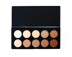 This is our pressed powder contour kit, the sister palette to the original bestselling 10 Colour Concealer palette. A wide range of shades from light to dark suitable for a variety of skin tones. Highly pigmented and easy to blend on application.