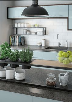 Small Kitchen Ideas: 10 Ways to Make a Small Kitchen Feel Bigger - Love Chic Living Condo Kitchen, Modern Kitchen Cabinets, Living Room Kitchen, Home Decor Kitchen, Kitchen Interior, Kitchen Remodel, Kitchen Ideas, Kitchen Trends, Kitchen Inspiration