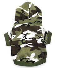 exército verde hoodie com capuz camiseta t natal cão pequeno roupas traje- camo verde(China (Mainland))