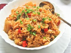 Kimchi Fried Rice/ Kimchi Bokkeumbap | Korean Food Gallery – Discover Korean Food Recipes and Inspiring Food Photos