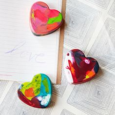 handmade heart-shaped crayons - amazing!