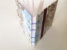 Brown and Blue Mini Photo Album by lovebirdbooks on Etsy, $12.00