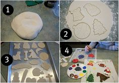 Baker's Clay recipe -- Great for paintable ornaments for kids!