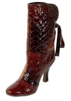 330d99b02 VICTORIA Croc brwon boot cocept, designed by Elegance & Kelaci dancing shoes.  GODIVA CHIC ...