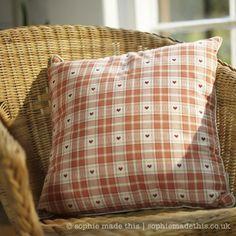 Warm terracotta heart cushion | sophie made this