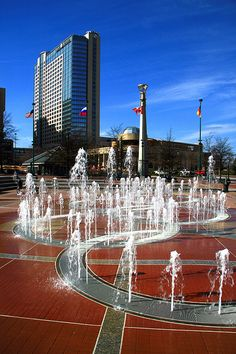 Atlanta Georgia Centennial Olympic park Home of the 1996 Summer Olympics Georgia Usa, Georgia On My Mind, Atlanta Georgia, Great Places, Places To See, Places Ive Been, Beautiful Places, San Diego, San Francisco