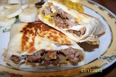 some enchilada sauce and cheese on top yes tex mex meatloaf burritos ...